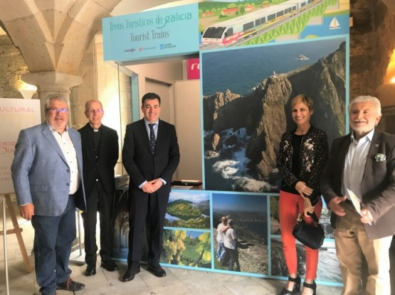 Román Rodríguez na presentación da programación dos Trens Turísticos de Galicia