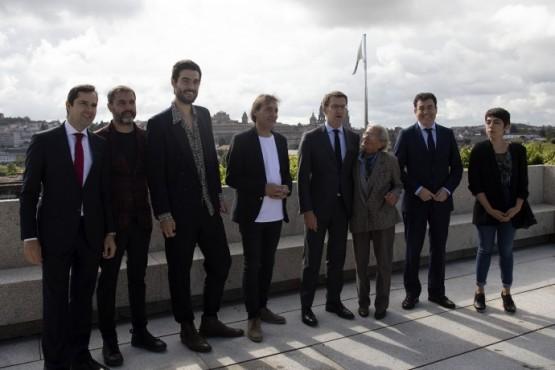 O presidente galego no encontro co director de cine