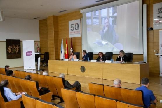 Intervención de Patricia Argerey na conferencia