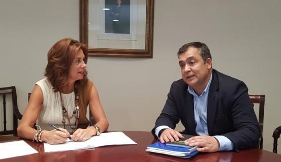 Díaz Mouteira mantén un encontro institucional co alcalde de Monterrei para analizar futuros proxectos conxuntos no concello