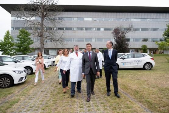 O presidente galego na visita á unidade HADO do Hospital Marítimo de Oza