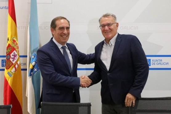 O conselleiro de Facenda trasládalle á Fegamp a proposta da Xunta para garantir que todos os galegos teñan acceso a servizos financeiros no seu concello
