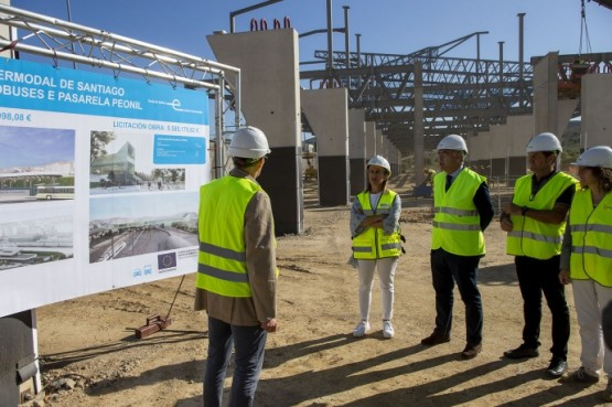 A estación de autobuses intermodal de Santiago está executada ao 40% e a mediados de 2020 estará rematada