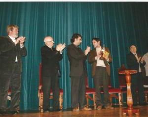 Paco Lareo, Avelino Pousa Antelo, Xosé Luna, Francisco Pillado, Olimpio Arca. Homenaxe no Teatro Principal da Estrada, organizada por Ed. Fervenza, 2005