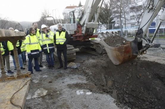 A mellora do saneamento de Pontedeume, cun investimento de 4,2 millóns de euros, estará rematada a comezos de 2021