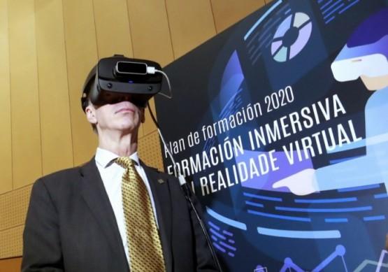 Jesús Vázquez na presentación do proxecto de realidade virtual
