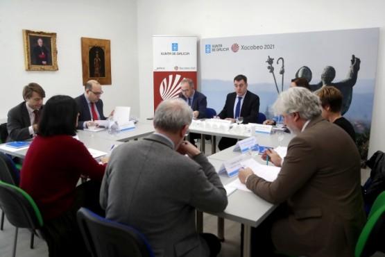 Román Rodríguez na xuntanza da Comisión Organizadora do vindeiro Ano Santo