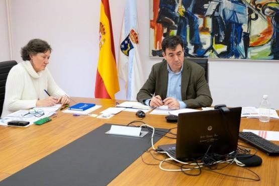 Videoconferencia do conselleiro Román Rodríguez