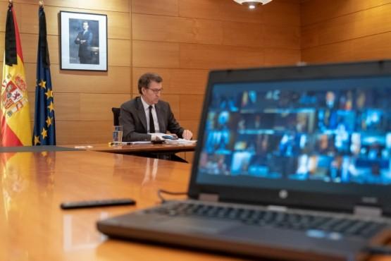 Videoconferencia do presidente galego