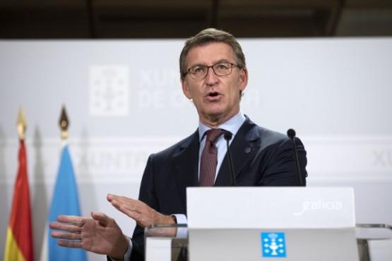 Rolda de prensa do presidente galego